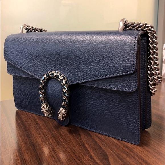 112793dd72e Gucci Dionysus Pebbled Leather Shoulder Bag
